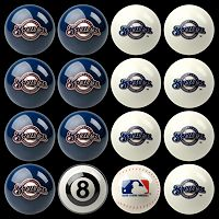 Milwaukee Brewers Home vs. Away 16 pc Billiard Ball Set