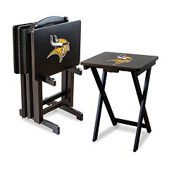 Minnesota Vikings TV Tray Table Set