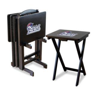 New England Patriots TV Tray Table Set