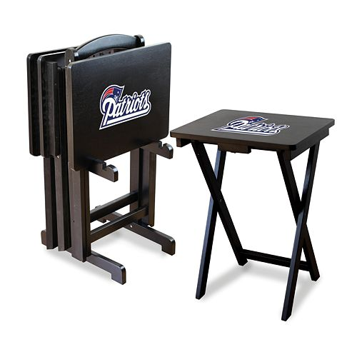 New England Patriots TV Tray Table Set