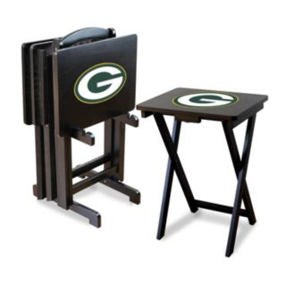Green Bay Packers TV Tray Table Set