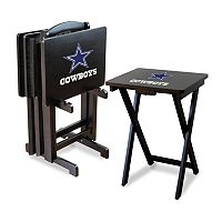 Dallas Cowboys TV Tray Table Set