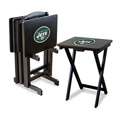 New York Jets TV Tray Table Set