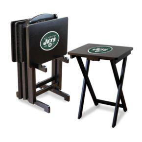 New York Jets TV Tray Table Set