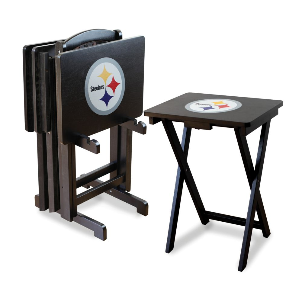 Steelers TV Tray Table Set
