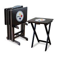 Pittsburgh Steelers TV Tray Table Set