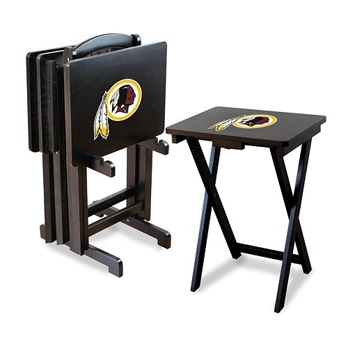 Washington Redskins TV Tray Table Set