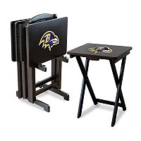 Baltimore Ravens TV Tray Table Set