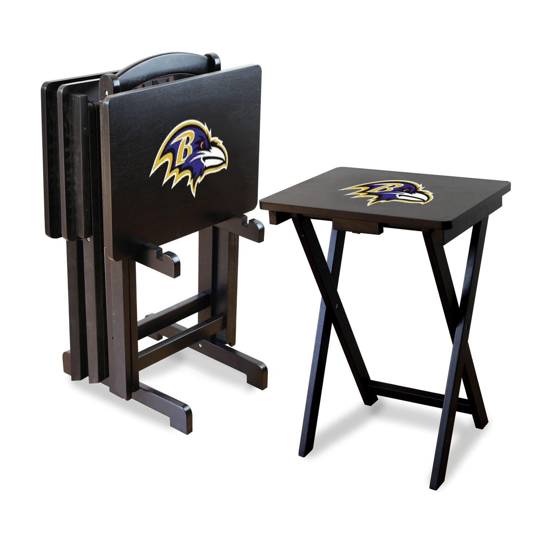 Baltimore Ravens TV Tray Table Set