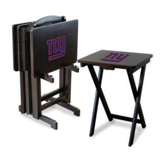 New York Giants TV Tray Table Set