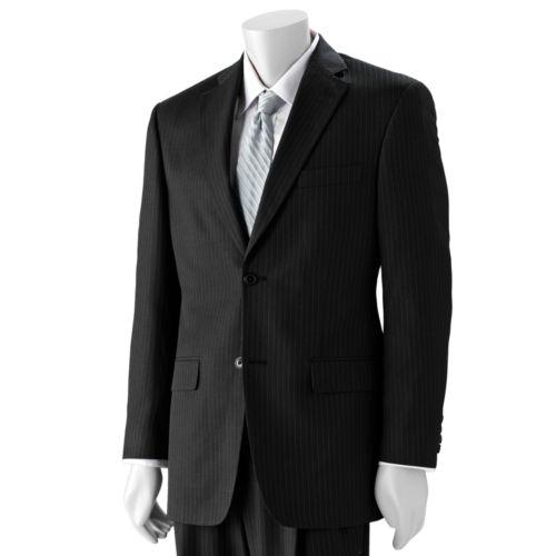 Haggar® Classic-Fit Black Stripe Suit Jacket - Big & Tall