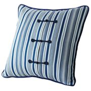 Chaps Camellia Striped Decorative Pillow