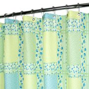 Watershed Tulip Patchwork Fabric Shower Curtain