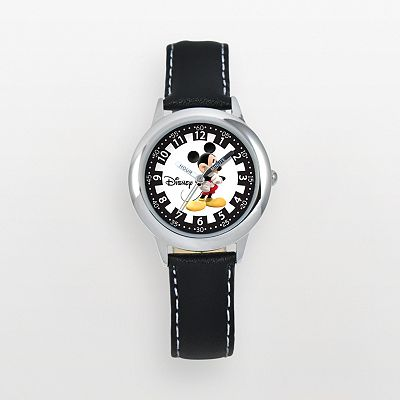Disney Mickey Mouse Time Teacher Stainless Steel Watch - Kids