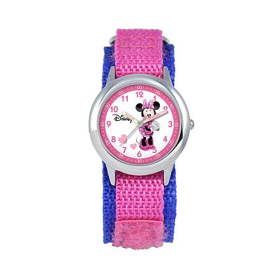 Disney Minnie Mouse Time Teacher Stainless Steel Watch - Kids