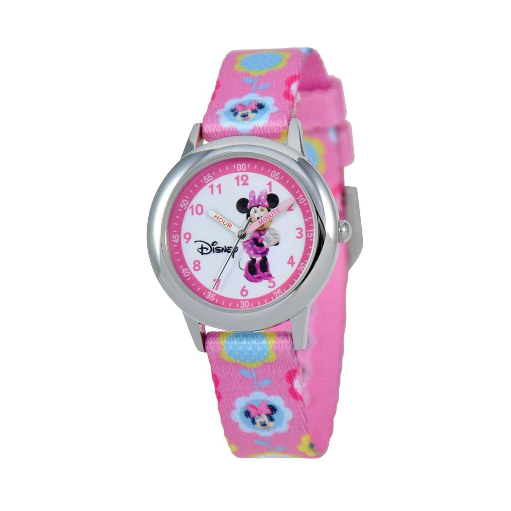 Disney's Minnie Mouse Kids' Floral Time Teacher Watch