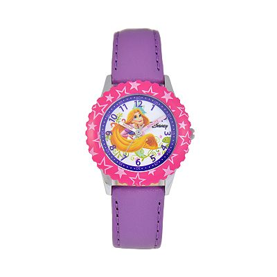 Disney Rapunzel Time Teacher Stainless Steel Star Watch - Kids