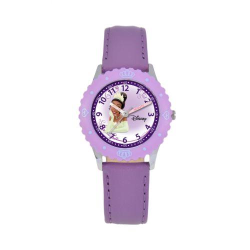 Disney Princess Tiana Time Teacher Stainless Steel Watch - Kids