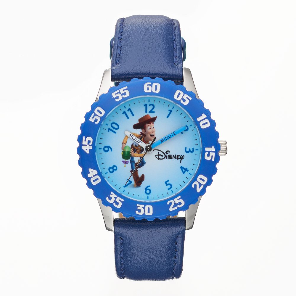 Disney / Pixar Toy Story Sheriff Woody Boy's Leather Time Teacher Watch