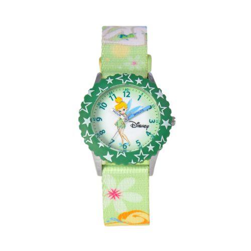 Disney Tinker Bell Time Teacher Stainless Steel Star Watch - Kids