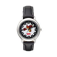 Marvel Iron Man Boy's Leather Time Teacher Watch