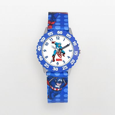 Captain America Time Teacher Stainless Steel Watch - Kids