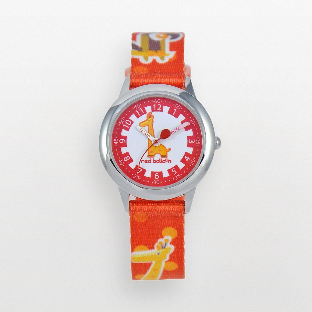 Red Balloon Kids' Time Teacher Giraffe Watch