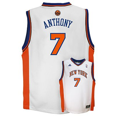 adidas New York Knicks Carmelo Anthony NBA Jersey -  Boys 8-20