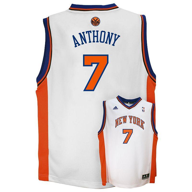 adidas New York Knicks Carmelo Anthony NBA Jersey - Boys 8-20