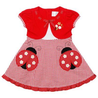 Fashion  Clearance on Youngland Mock Layer Ladybug Seersucker Dress   Infant
