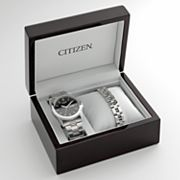 Citizen Stainless Steel Watch and Bracelet Set - BF0580-65E - Men