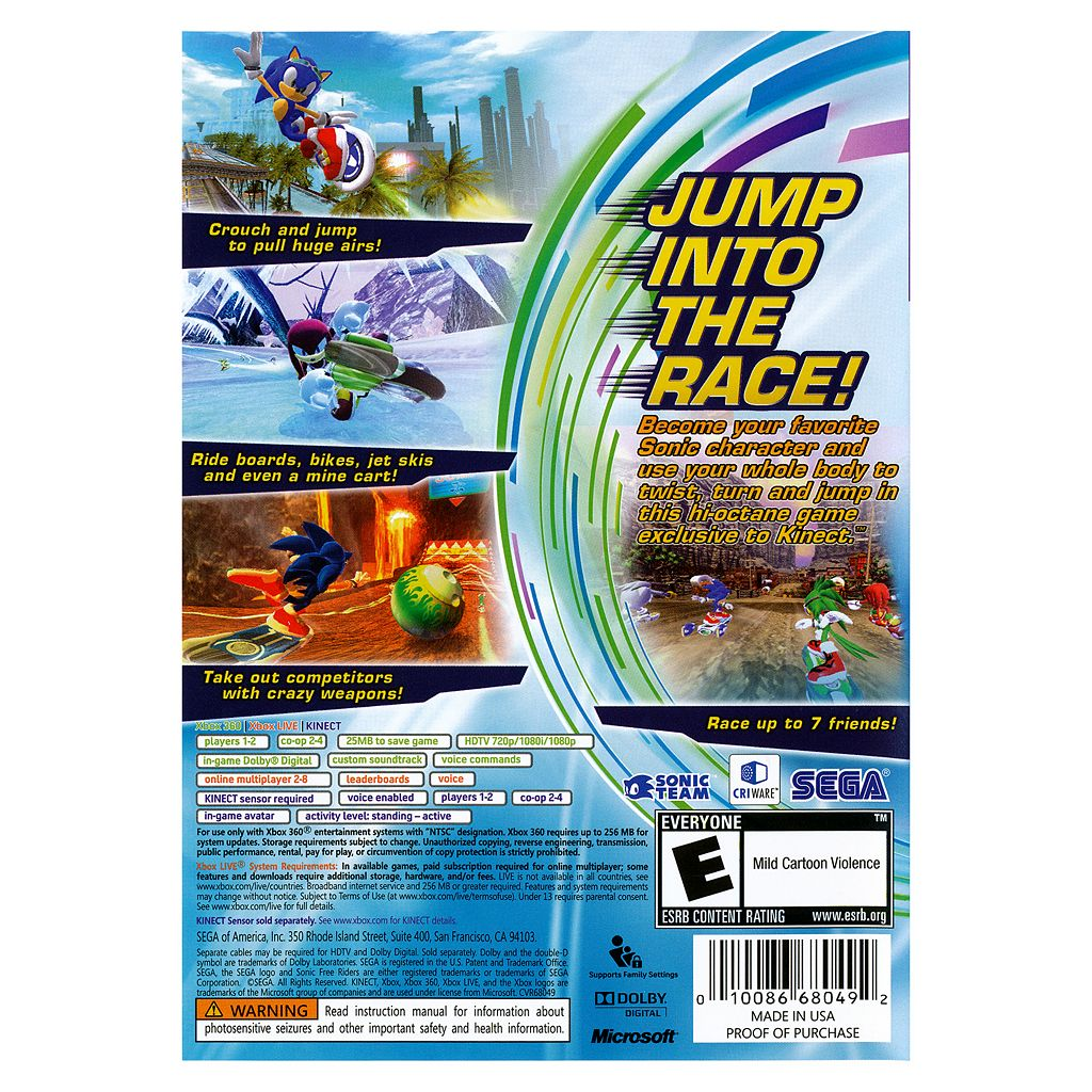 Sonic Free Riders for Xbox 360
