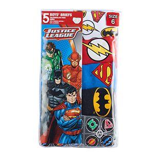 Boys 4-8 Justice League 5-Pack Briefs