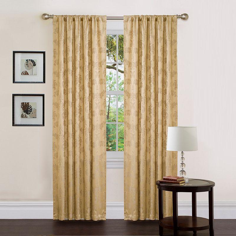 Lush Decor Dorchester Window Panel 84 Inch Gold Yellow