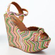 Candie's Platform Wedge Sandals