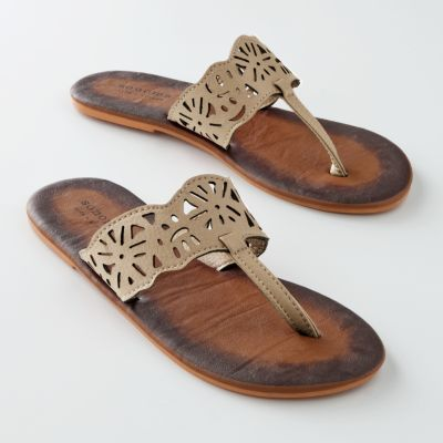 SONOMA life and style Floral Cut-Out Flip-Flops