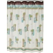 Croft and Barrow Palm Isle Fabric Shower Curtain