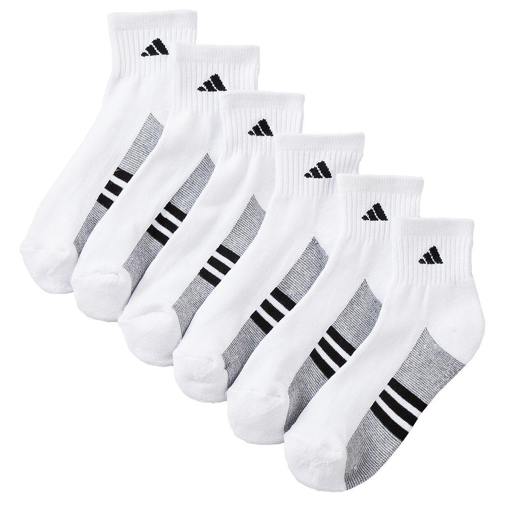 Boys adidas 6-pk. ClimaLite 1/4-Crew Socks
