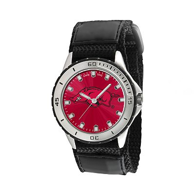 Game Time Veteran Series Arkansas Razorbacks Silver Tone Watch - COL-VET-ARK