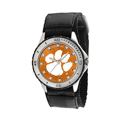 Game Time Veteran Series Clemson Tigers Silver Tone Watch - COL-VET-CLE