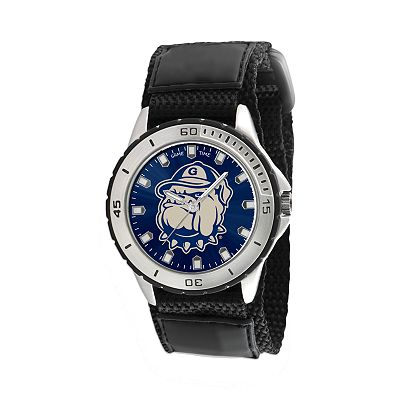 Game Time Veteran Series Georgetown Hoyas Silver Tone Watch - COL-VET-GRG