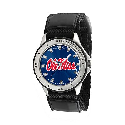 Game Time Veteran Series Ole Miss Rebels Silver Tone Watch - COL-VET-MIS