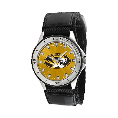 Game Time Veteran Series Missouri Tigers Silver Tone Watch - COL-VET-MO