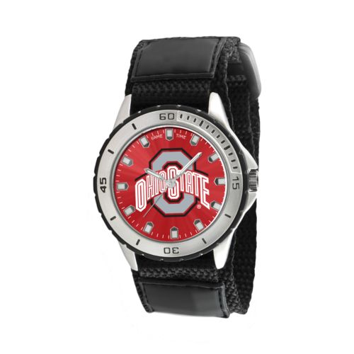 Game Time Veteran Series Ohio State Buckeyes Silver Tone Watch - COL-VET-OSU