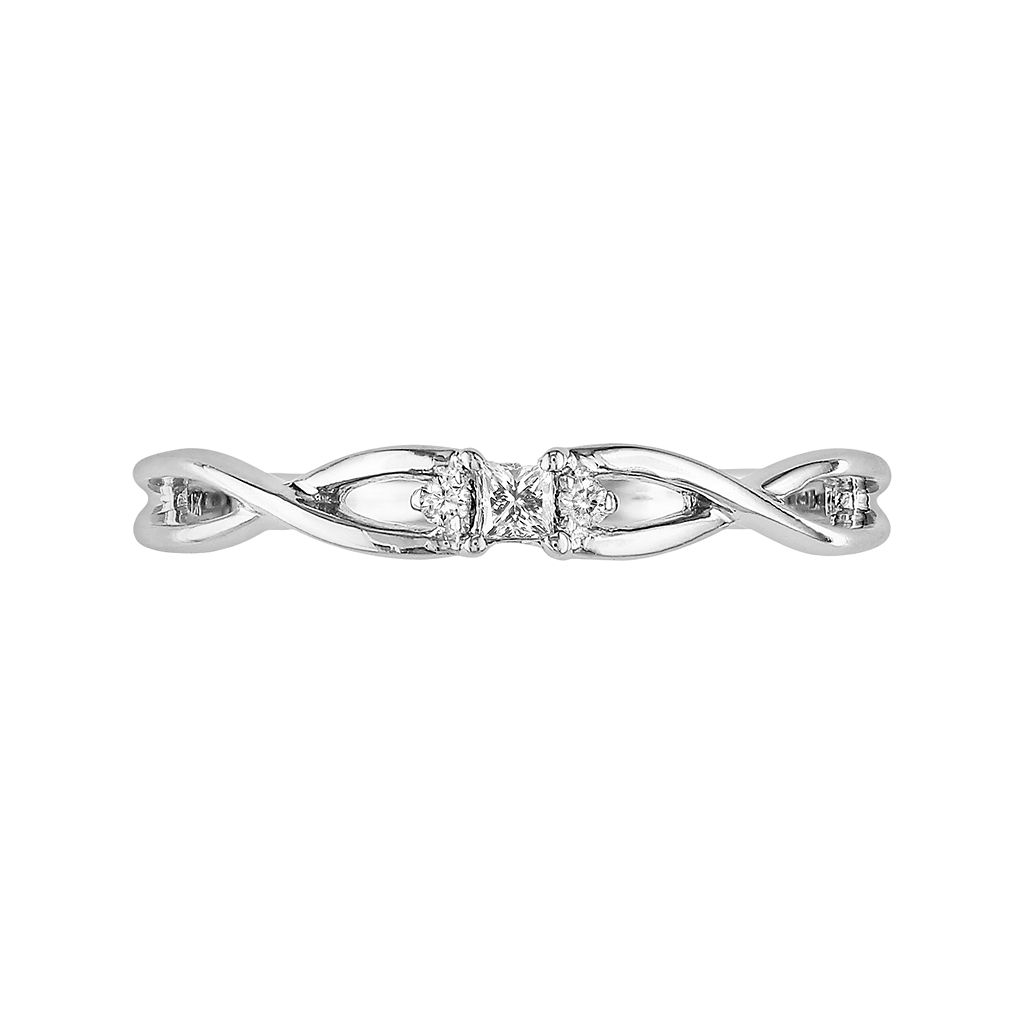 10k White Gold Diamond Accent Ring