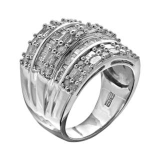 Sterling Silver 2-ct. T.W. Diamond Multirow Ring