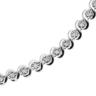 Sterling Silver 1/2-ct. T.W. Round-Cut Diamond Tennis Bracelet