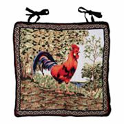 Park B. Smith Tuscany Rooster Tapestry Chair Pad
