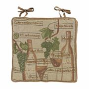 Park B. Smith Fruit Of The Vine Tapestry Chair Pad