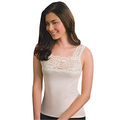Plus Size Cuddl Duds SofTech Lace-Trim Tank